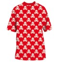 T-SHIRT HK ALL OVER RED WHITE