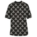 T-SHIRT HK ALL OVER BLACK GREY