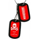 PENDENTIF DOG TAGS HK ARMY ROUGE