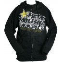 SWEAT ROCKSTAR DIFFUSE ZIP NOIR