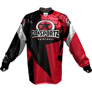 JERSEY G.I. SPORTZ CHARGER PADDED PRO ROUGE/NOIR