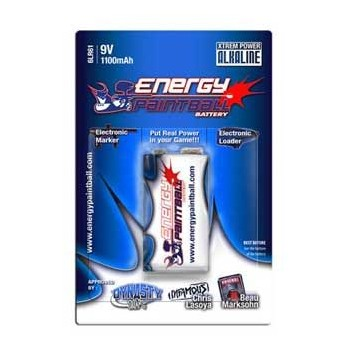PILE ENERGY PAINTBALL ALKALINE 9V