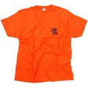 T-SHIRT LOGO STAR LION ORANGE