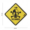 PATCH PVC 3D VELCRO 101 INC I'M THE DANGER JAUNE