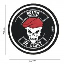 PATCH PVC 3D VELCRO 101 INC DEATH OR GLORY NOIR