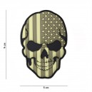 PATCH PVC 3D VELCRO 101 INC SKULL USA SUBDUED