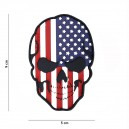 PATCH PVC 3D VELCRO 101 INC SKULL USA