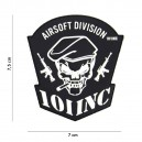 PATCH PVC 3D VELCRO 101 INC AIRSOFT DIVISION NOIR