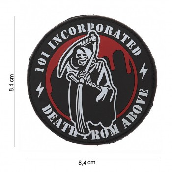 PATCH PVC 3D VELCRO 101 INC DEATH FROM ABOVE