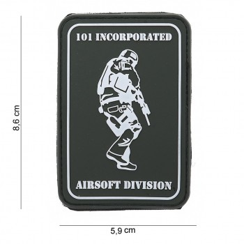 PATCH PVC 3D VELCRO 101 INCORPORATED SOLDIER GRIS