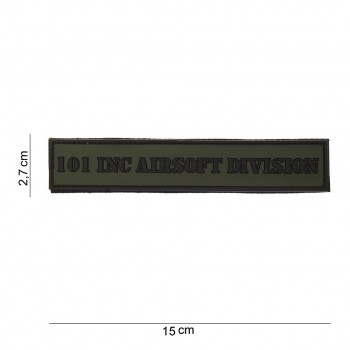 PATCH PVC 3D VELCRO 101 INC AIRSOFT DIVISION TAB VERT