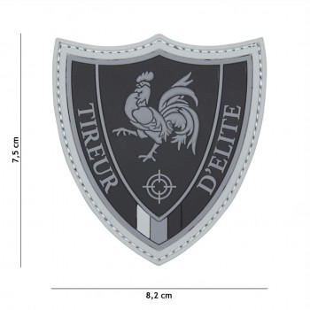 PATCH PVC 3D VELCRO 101 INC TIREUR D'ELITE NOIR