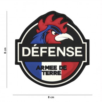 PATCH PVC 3D VELCRO 101 INC DEFENSE ARMEE DE TERRE