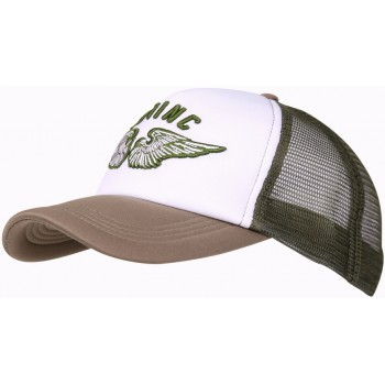 CASQUETTE 101 INC WINGS MESH TAN/OLIVE